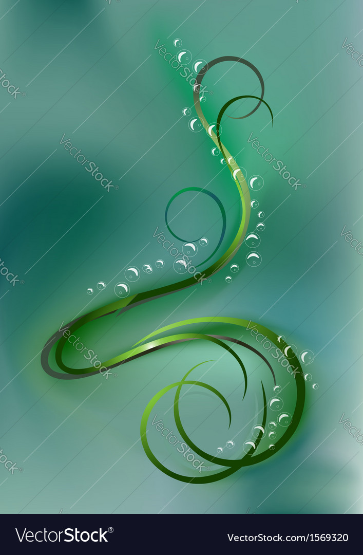 Swirling bright curves and bubbles vector | Price: 1 Credit (USD $1)