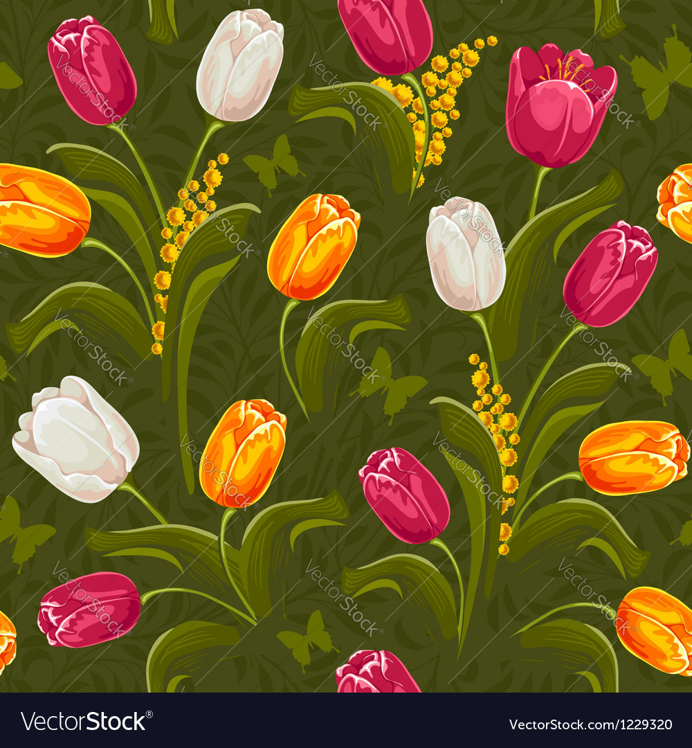 Tulip seamless vector | Price: 3 Credit (USD $3)