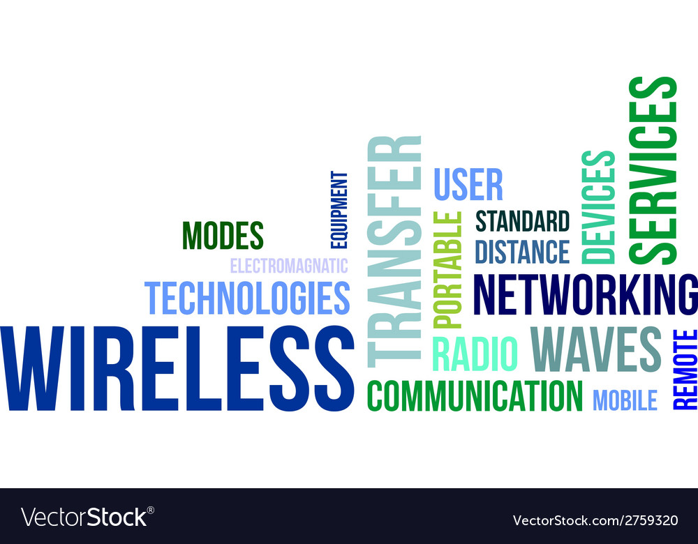 Word cloud wireless vector | Price: 1 Credit (USD $1)