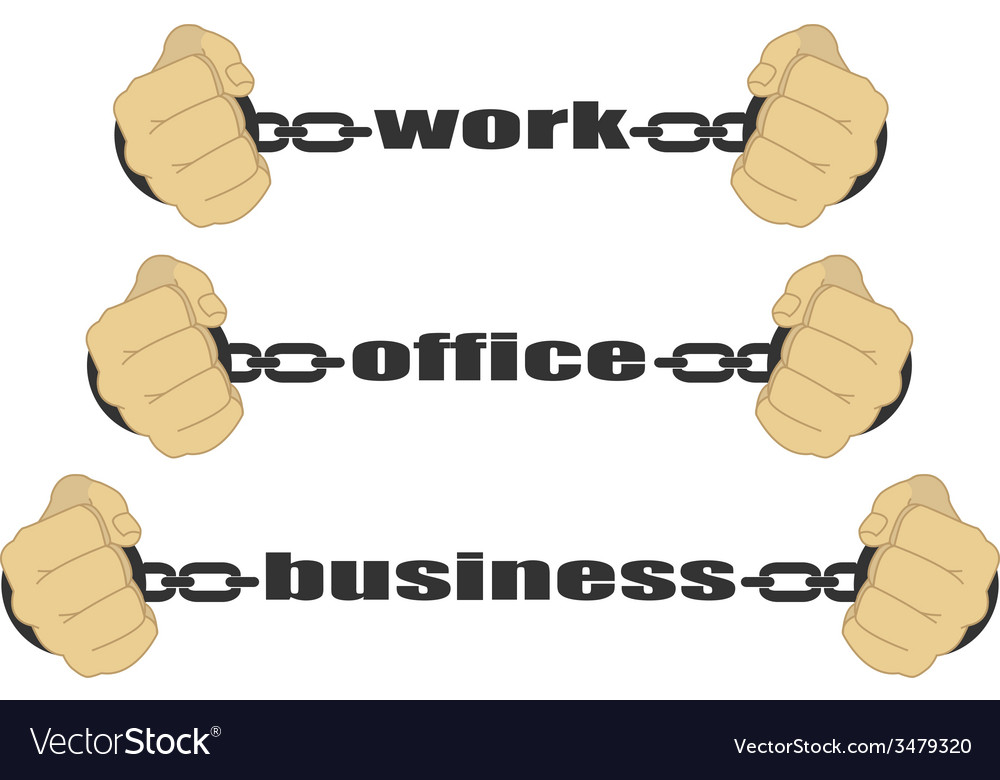 Work office business signs vector | Price: 1 Credit (USD $1)