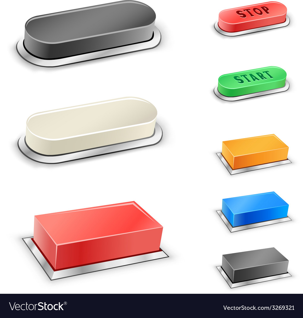 3d mega buttons vector | Price: 1 Credit (USD $1)