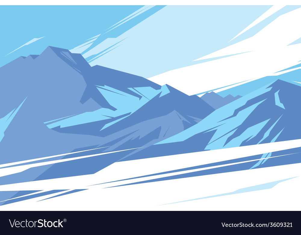 Abstract mountains vector | Price: 1 Credit (USD $1)