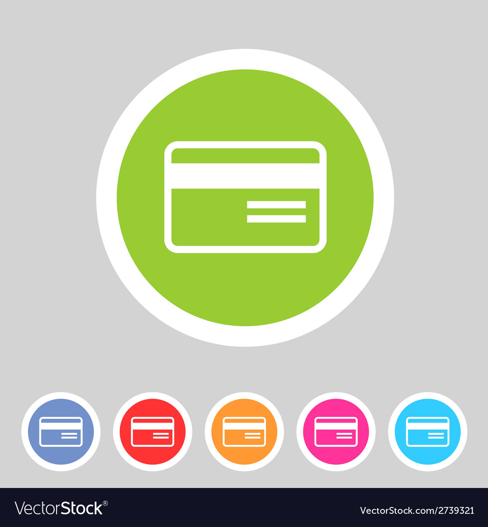 Bank credit card flat icon vector | Price: 1 Credit (USD $1)