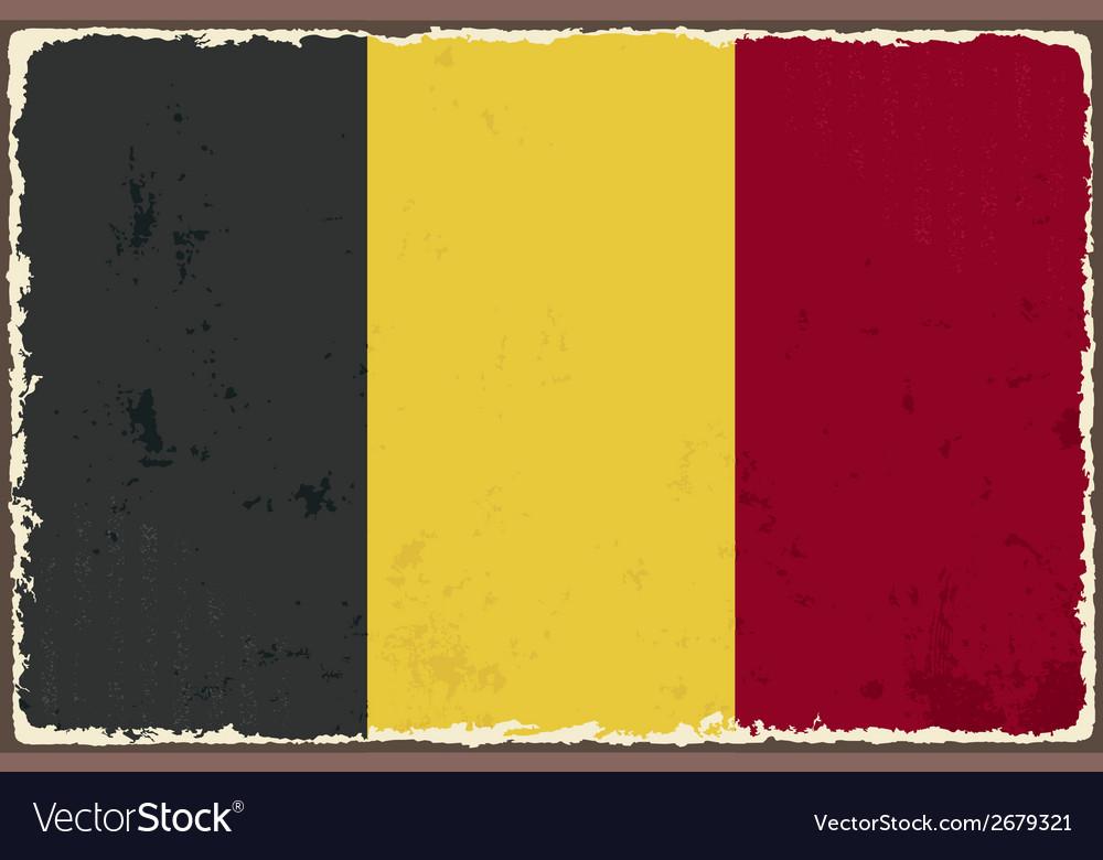 Belgian grunge flag vector | Price: 1 Credit (USD $1)