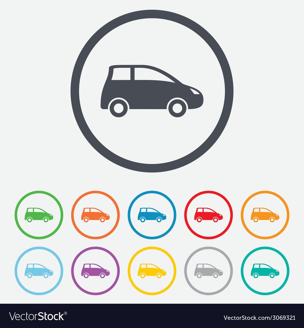 Car sign icon hatchback symbol vector   Price: 1 Credit (USD $1)