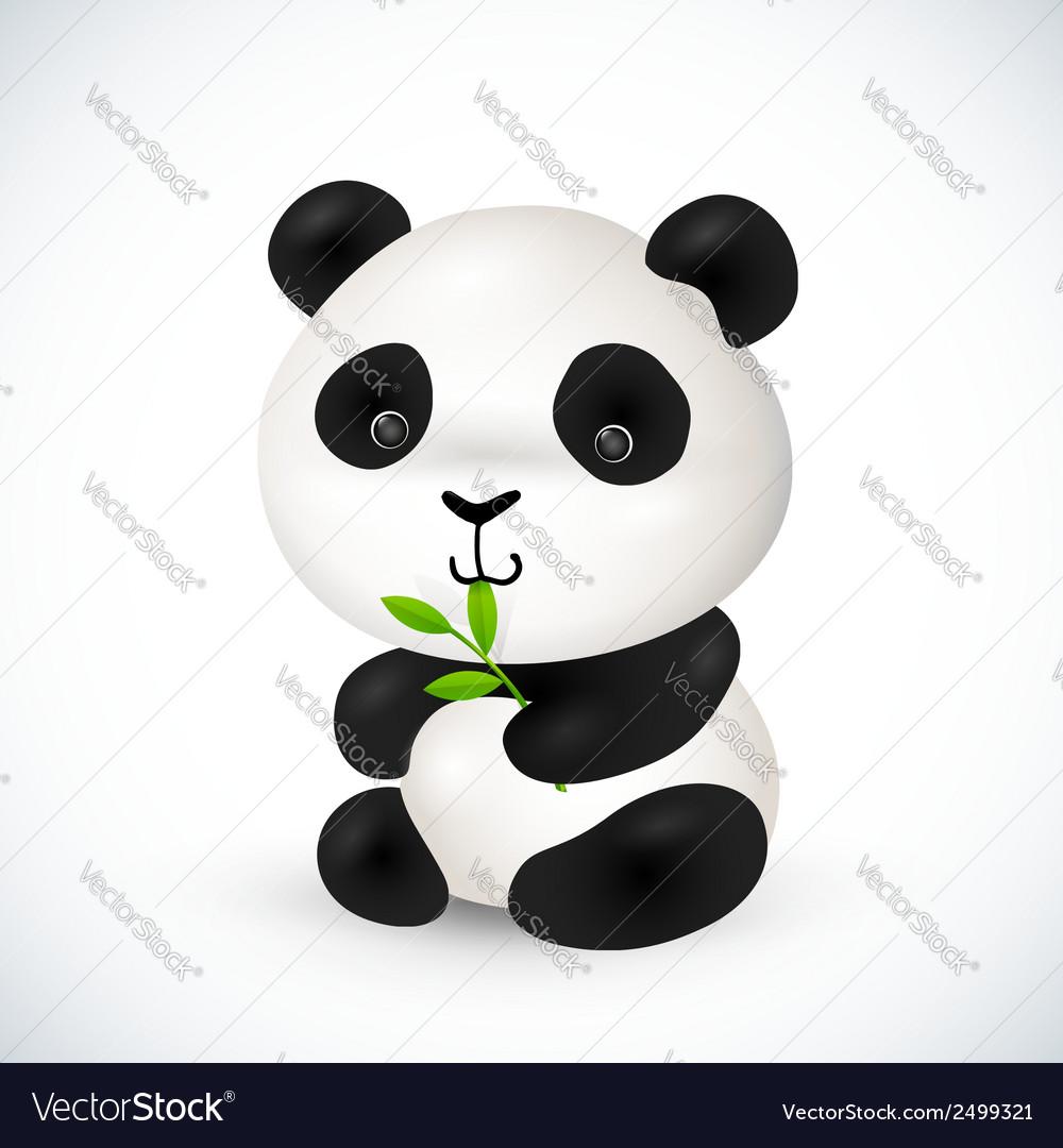 Cute little panda vector | Price: 1 Credit (USD $1)