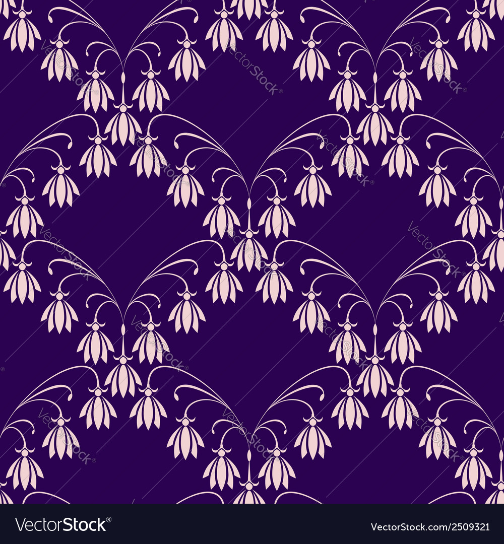 Flower net seamless background vector | Price: 1 Credit (USD $1)