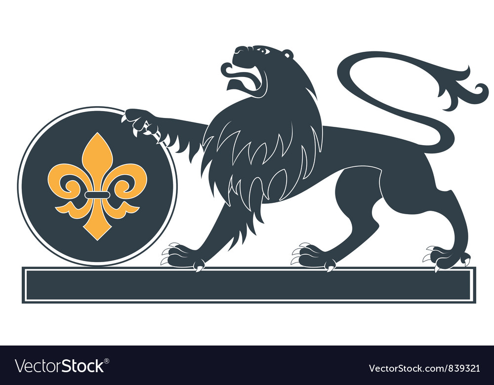 Heraldic lion17 vector | Price: 1 Credit (USD $1)