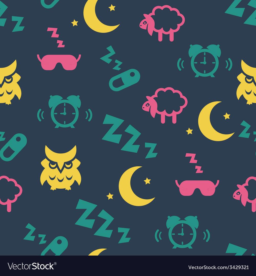 Sleep time seamless pattern vector | Price: 1 Credit (USD $1)