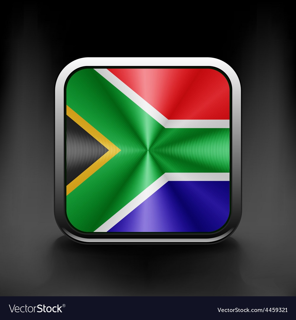 South african flag national travel icon country vector | Price: 1 Credit (USD $1)