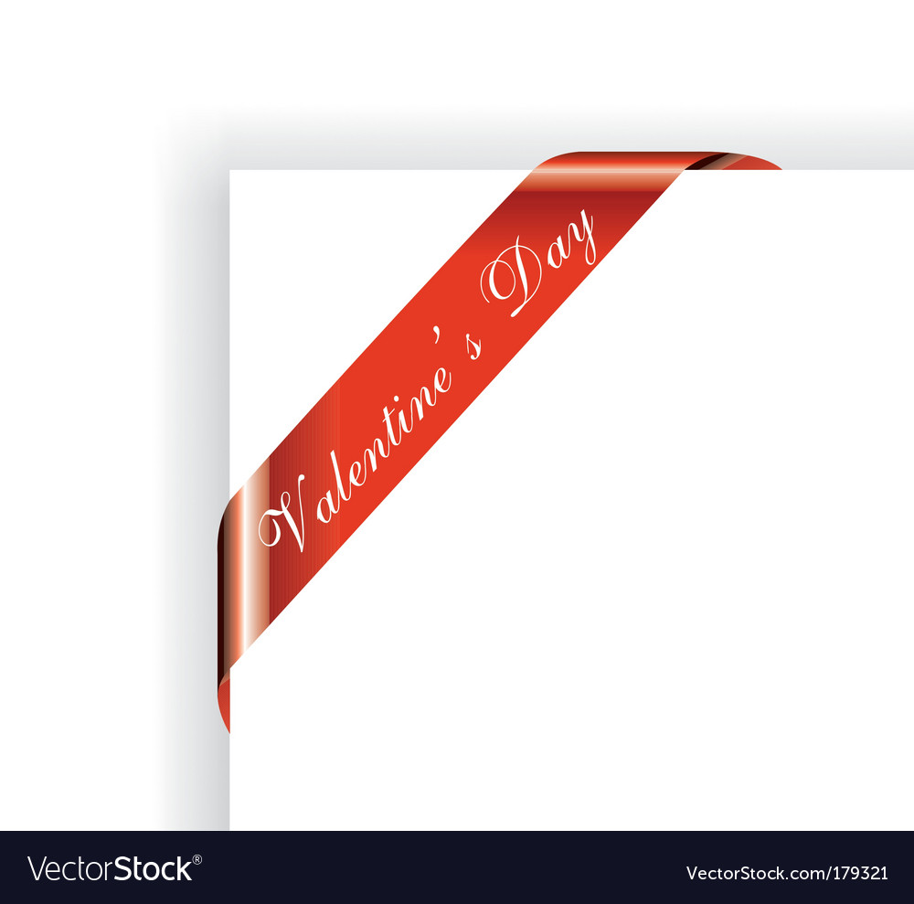 Valentines day ribbon vector | Price: 3 Credit (USD $3)