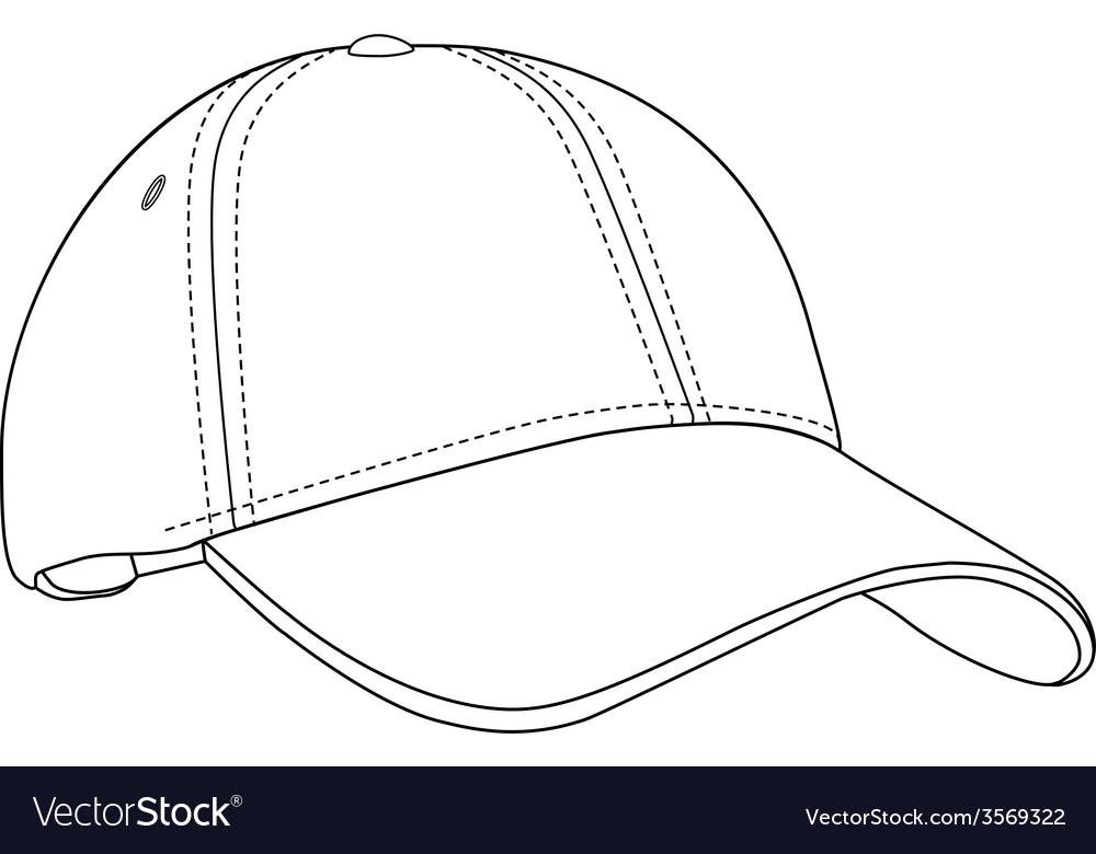 Baseball cap outlinme vector   Price: 1 Credit (USD $1)