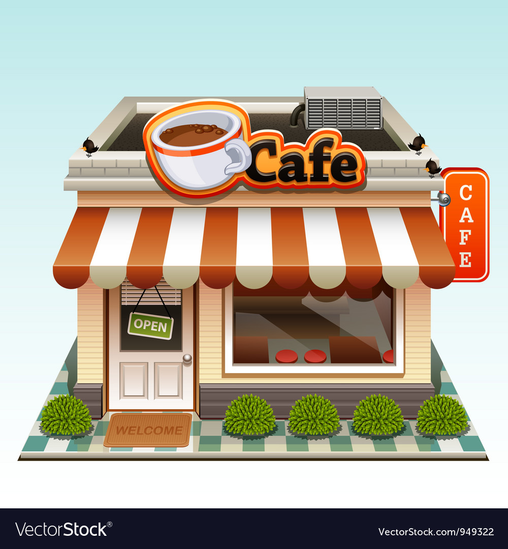 Cafe icon vector | Price: 5 Credit (USD $5)