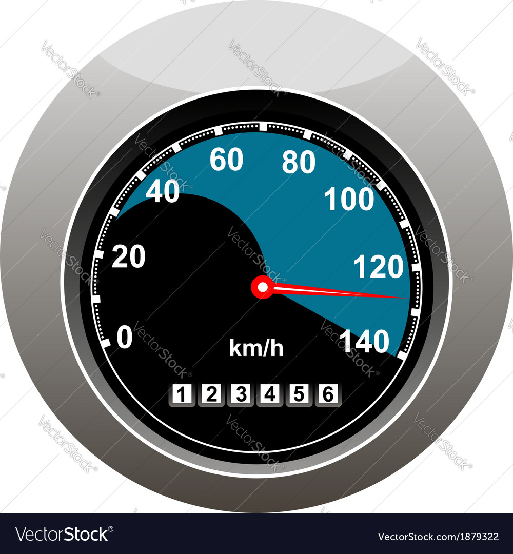 Car speedometer showing someone speeding vector | Price: 1 Credit (USD $1)