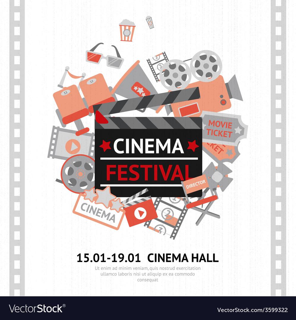 Cinema festival poster vector | Price: 1 Credit (USD $1)