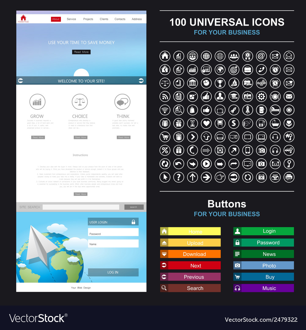 Design of mobile applications vector | Price: 1 Credit (USD $1)