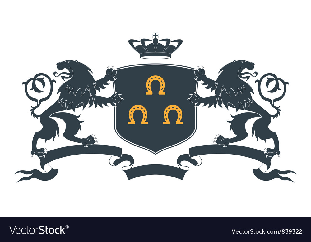 Heraldic lion18 vector | Price: 1 Credit (USD $1)