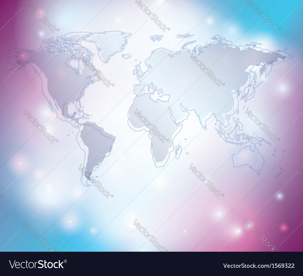 Light abstract background with map of the world vector | Price: 1 Credit (USD $1)