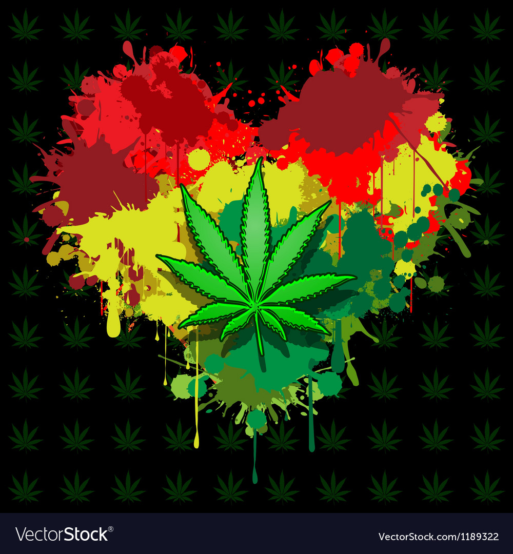 Love marijuana vector | Price: 1 Credit (USD $1)