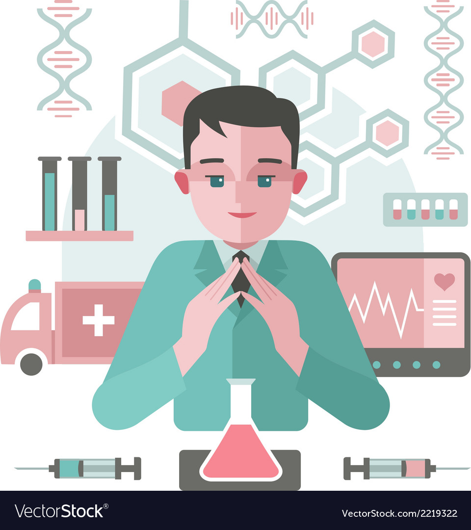 Medicine abstract background with doctor vector | Price: 1 Credit (USD $1)