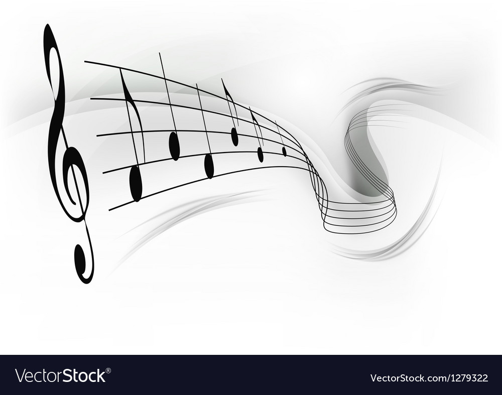 Music note background grey vector | Price: 1 Credit (USD $1)
