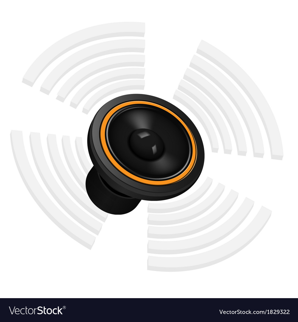 Sound speaker with waves vector | Price: 1 Credit (USD $1)