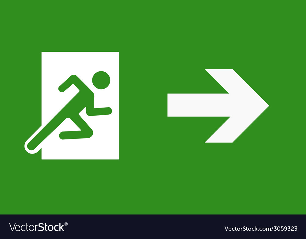 Exit sign vector   Price: 1 Credit (USD $1)