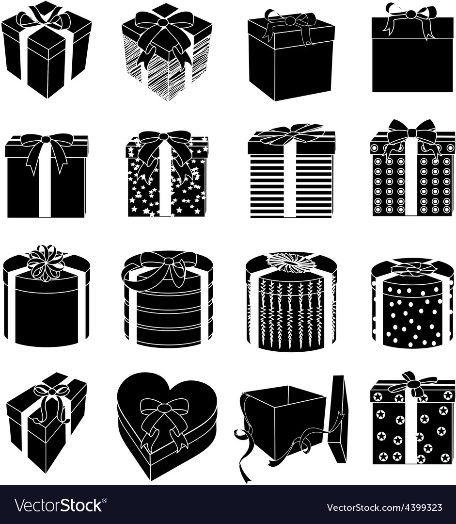 Gift boxes icons set vector | Price: 3 Credit (USD $3)