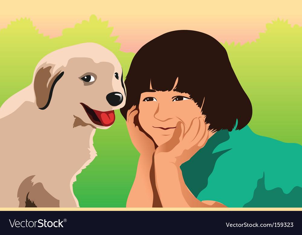 Puppy love vector | Price: 1 Credit (USD $1)