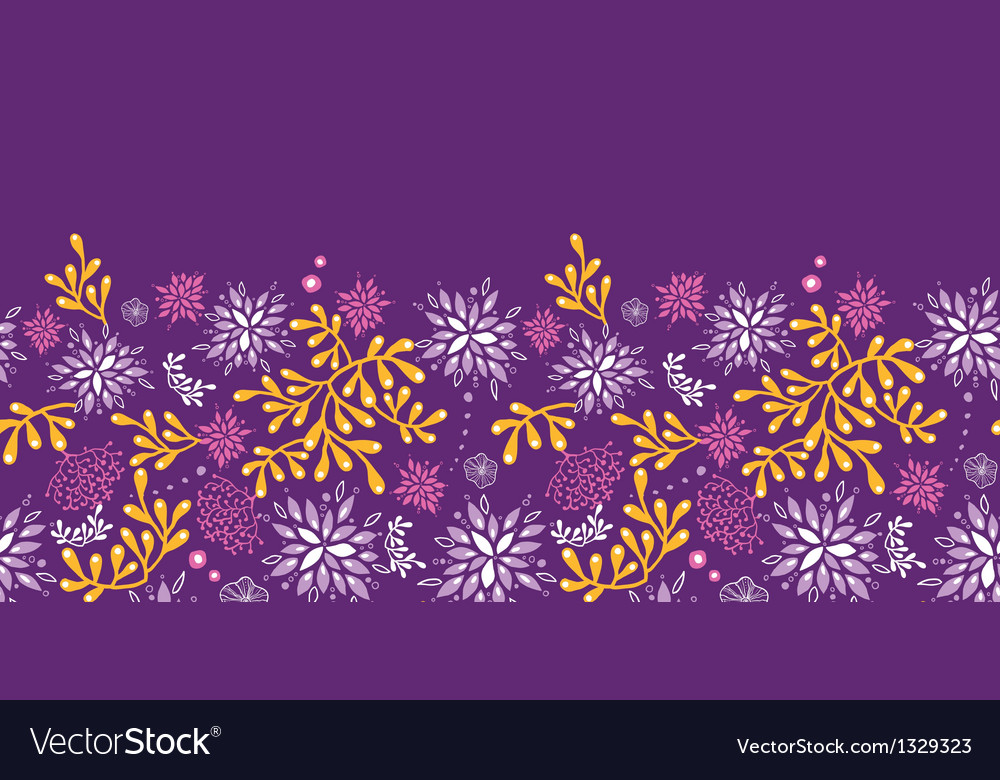 Purple and gold underwater plants horizontal vector | Price: 1 Credit (USD $1)