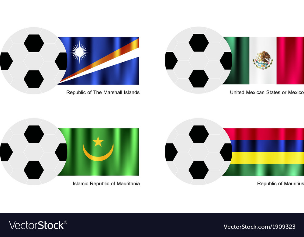 Soccer ball of marshall islands mexico maurita vector | Price: 1 Credit (USD $1)