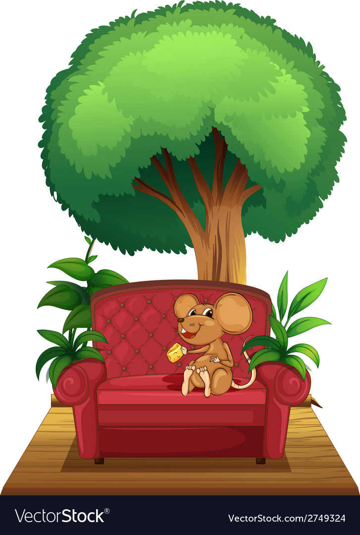 A chair under the tree with a mouse vector | Price: 1 Credit (USD $1)
