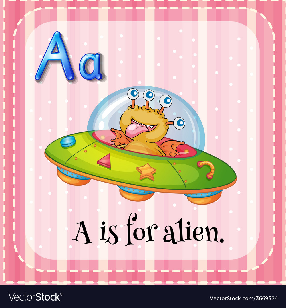 A letter a for alien vector | Price: 1 Credit (USD $1)