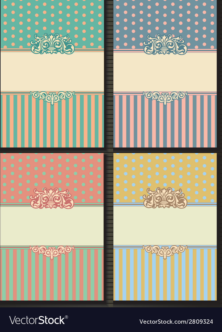 Background frame template of vintage shabby chic vector | Price: 1 Credit (USD $1)