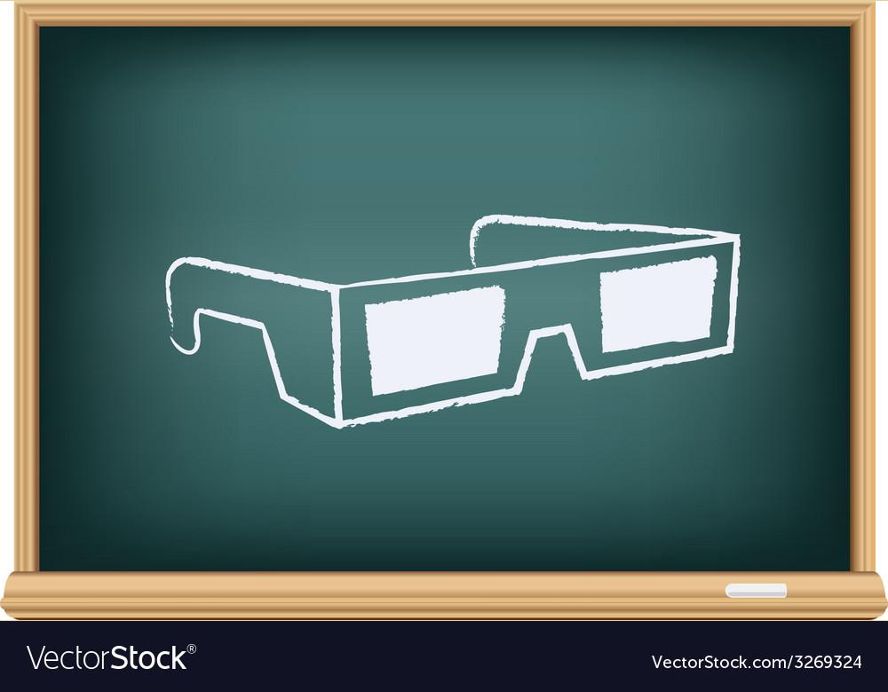 Board cinema 3d glasses vector | Price: 1 Credit (USD $1)