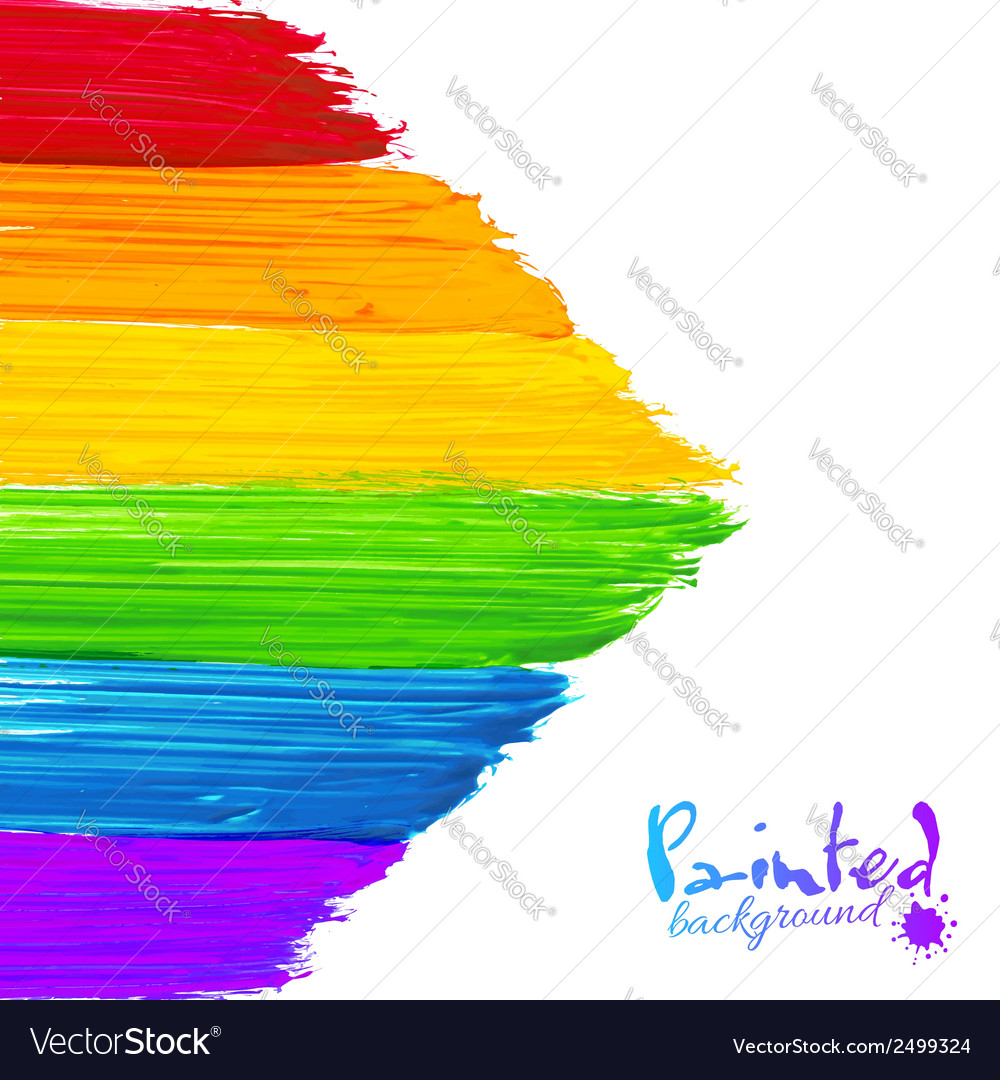 Bright rainbow paint strokes arrow background vector | Price: 1 Credit (USD $1)