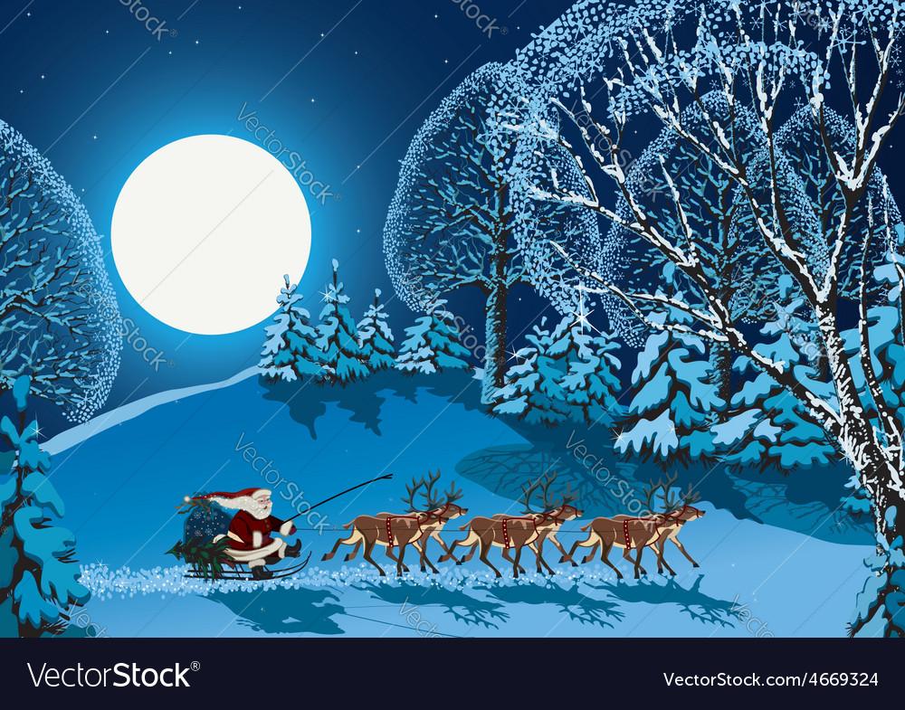 Christmas night vector   Price: 1 Credit (USD $1)