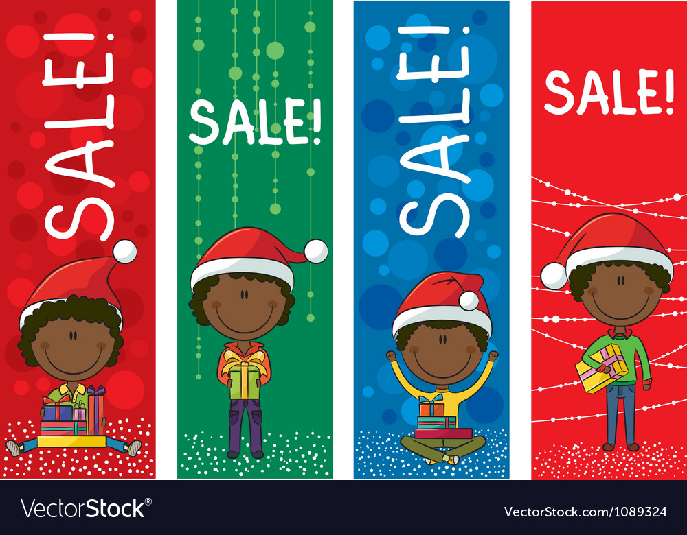 Christmas sale banners vector | Price: 3 Credit (USD $3)
