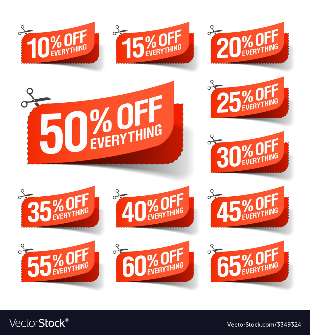 Everything is on sale coupons vector | Price: 1 Credit (USD $1)