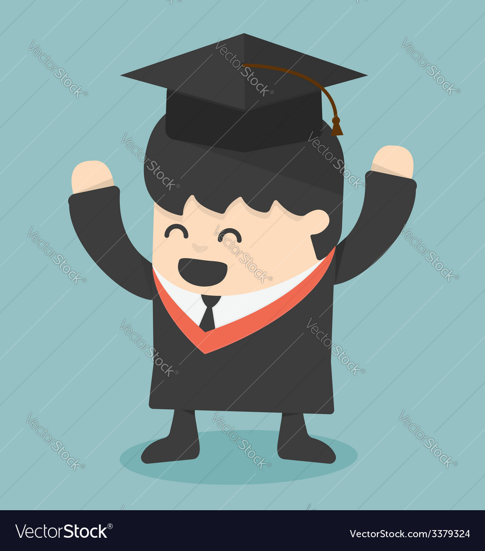 Graduating young man vector | Price: 1 Credit (USD $1)