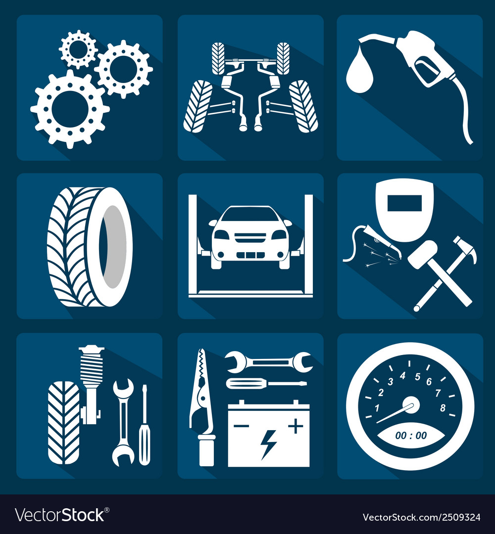 Icon car service 3 vector | Price: 1 Credit (USD $1)
