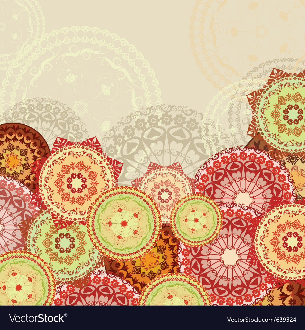 Mandala background vector | Price: 1 Credit (USD $1)