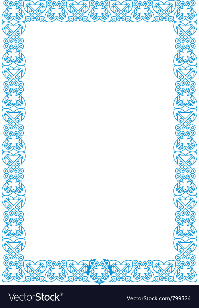 Marine style frame vector | Price: 1 Credit (USD $1)