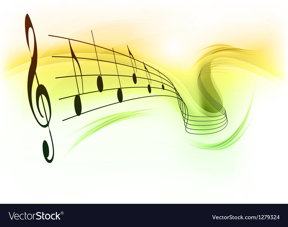 Music note background white green vector | Price: 1 Credit (USD $1)