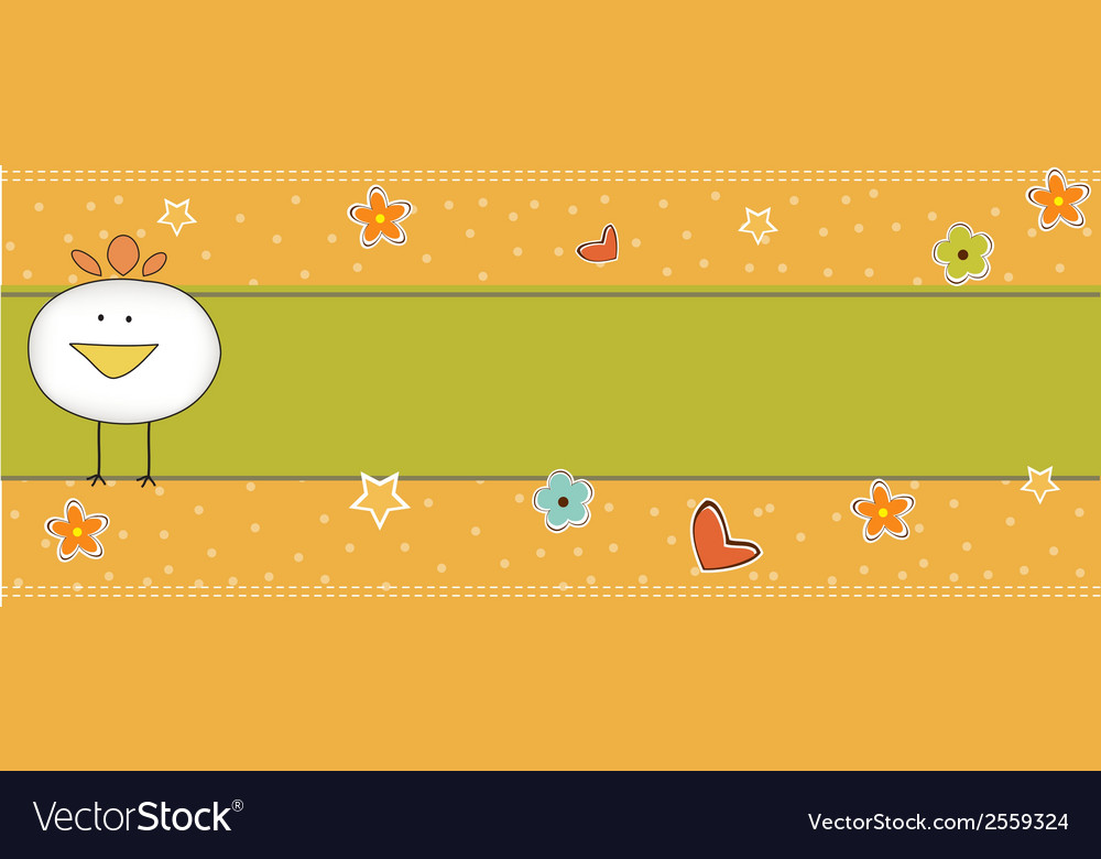 New baby announcement card with chicken vector   Price: 1 Credit (USD $1)