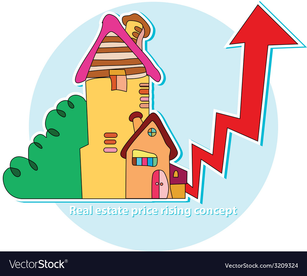 Real estate price rising concept vector | Price: 1 Credit (USD $1)