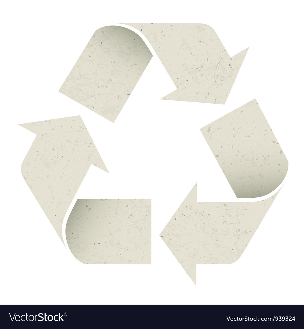 Reuse symbol recycled paper texture vector | Price: 1 Credit (USD $1)