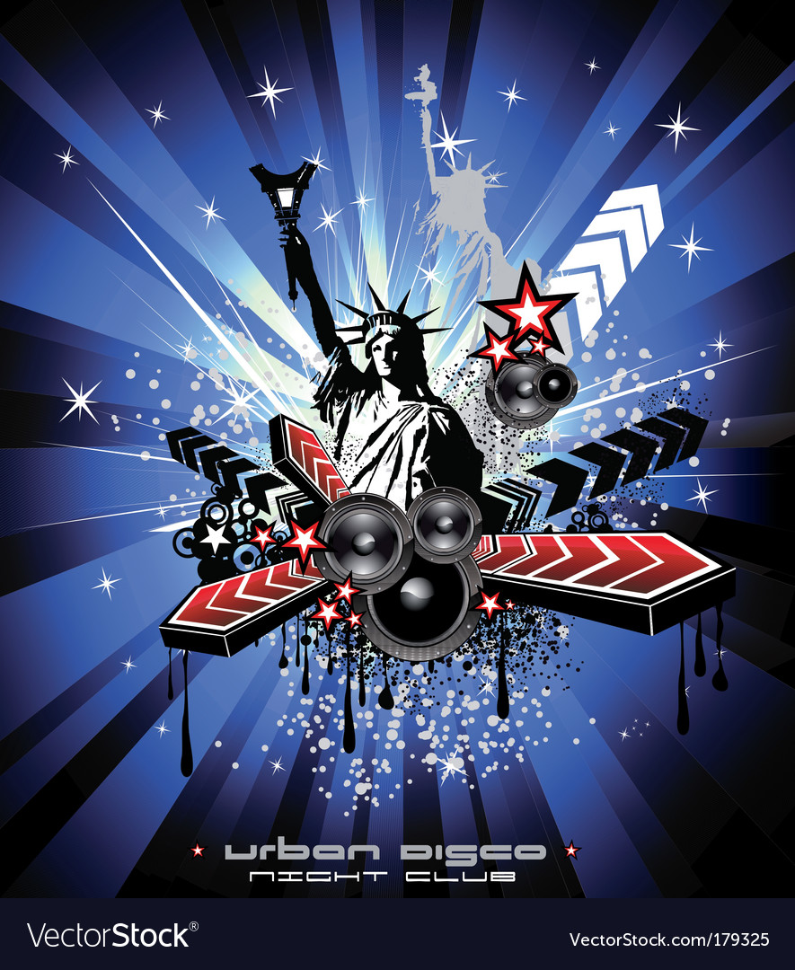 American discotheque vector | Price: 3 Credit (USD $3)