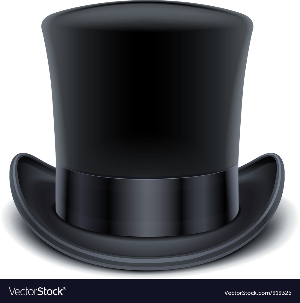 Black top hat vector | Price: 1 Credit (USD $1)