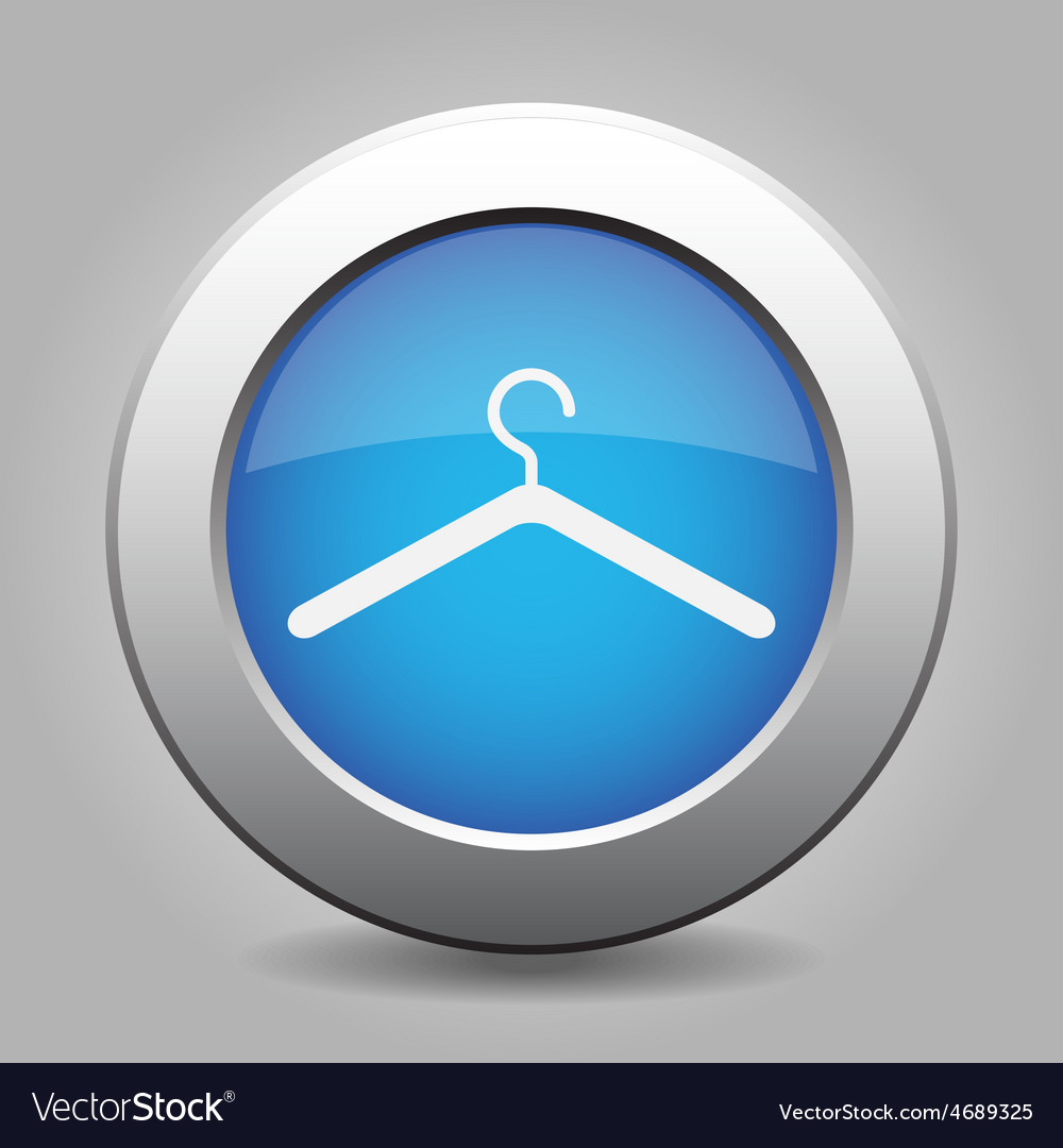 Blue metal button with hanger vector | Price: 1 Credit (USD $1)